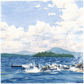 Rangeley Maine artist offering watercolor paintings and minature art